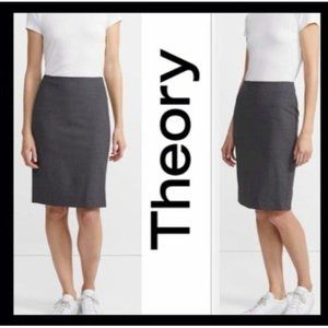 THEORY Charcoal Pencil Skirt size 6